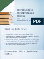Introdução a Interpretação Bíblica Slides