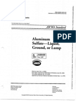 Norma AWWA B403-09 Sulfato de Aluminio