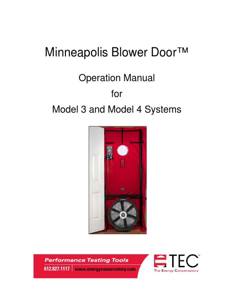 blower door manual ingles mechanical fan building technology rh es scribd com retrotec blower door manual Blower Door Test Procedure