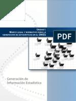 Marco Normativo para la generación de información estadística del SNIEG