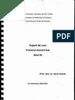 Protetica Dentara Fixa - Suport de Curs