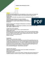 Dinâmica Para Produção de Texto