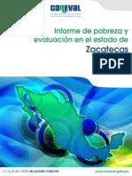 Informe de Pobreza y Evaluación en El Estado de Zacatecas 2012