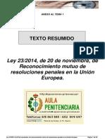 Ley 23 2014 Resumida