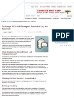 Exchange 2010 Hub Transport Server Backup and Recovery