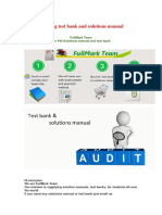 Auditing Test Bank and Solutions Manaul