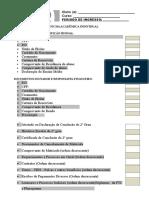 Check list de documentos (Ficha do aluno)¹