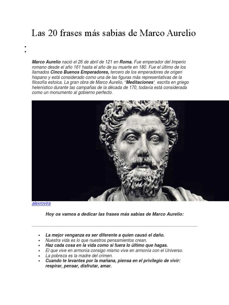 Las 20 Frases Más Sabias De Marco Aurelio Marco Aurelio