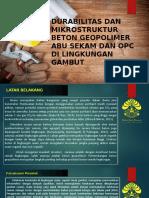 Durabilitas Dan Mikrostruktur Beton Geopolimer Abu Sekam Padi