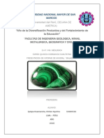 Informe de Laboratorio de Quimica Cualitativa Malaquuita