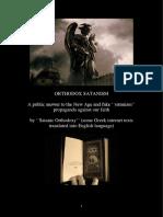 Orthodox Satanism - A Public Answer to the New Age and Fake ''Satanism'' Propaganda