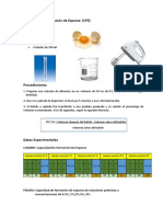 Capacidad de Formación de Espuma - Estabilidad de Espuma