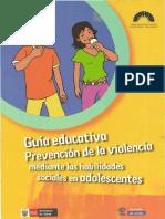 Guía Educativa Prevención de La Violencia Mediante La Habilidades Sociales en Adolescentes
