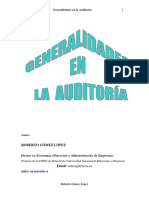 Generalidades en Auditoria