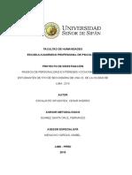 PROYECTO DE TESISRasgos de La Personalidad & Intereses Ocupacionales