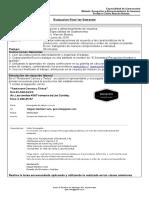 Evaluación Final Junio Recepción