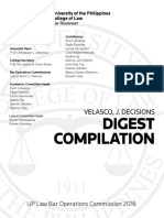 Velasco Digests Compiled