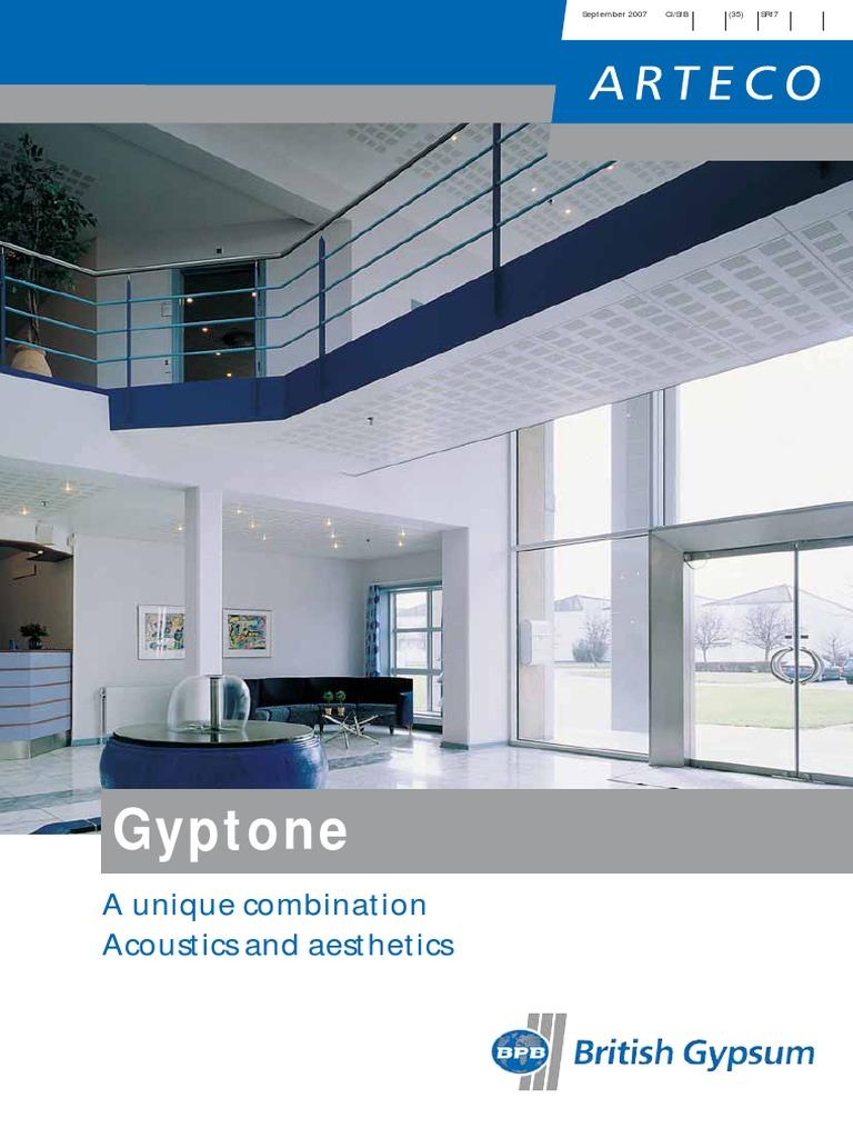 Gyptone Tiles Planks Boards Brochure Drywall Sound