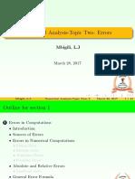 Topic 2 Errors