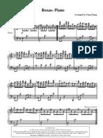 kingdom hearts - Roxas (Piano Solo)