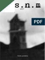 m.s.n.m.  #01 (Literatura) - Ediciones Del Marqués - Cerro de Pasco