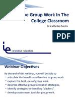 Effective Group Work PPt Presentation