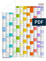2018 Calendar Landscape in Color