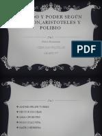 Estado y Poder Según Platon,Aristoteles y Polibio