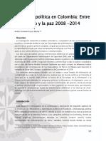 Internet y Politica en Colombia Entre El Conflicto y La Paz 2008-2014 - Andres Fernando Orozco Macias