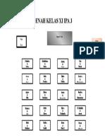 Denah Kelas Xi Ipa 3