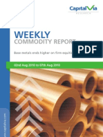 Bullion Commodities Reports for the Week
