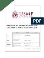 Manual de Portal Academico Alumno USMP