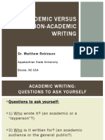 Academic and Non Academic