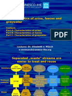 Urine Feaces and Grey Water