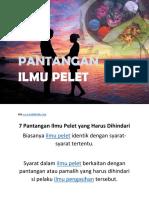 Pelet pdf ilmu