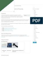 Arduino to Processing