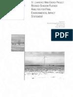 Appendix C-10 Final Shadow Flicker~ Acciona Industrial Wind /  FEIS /Cape Vincent New york