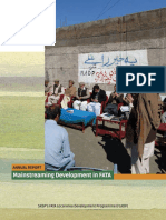 Mainstreaming Development in FATA Pakistan
