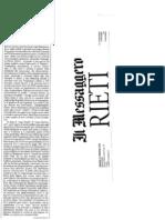 """L'Assessore Saletti.. Ci furono forti pressioni della CISL Rieti a far togliere i progetti a Ari Onlus / Eastwood Edo Ihaza _A. Lancia """"il Messaggero"""" 12 Feb 2010"""