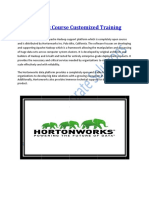 Hortonworks Course Customized Training Program