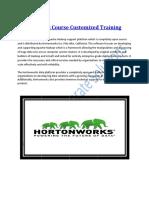 Hortonworks Course Customized Training Program