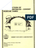 Construction Manual of Wire-reinforced Cement Mortar Tanks - Sri Lanka (1)