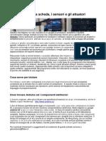 Arduino Scheda Sensori Attuatori
