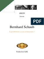Schaub Bernhard - A Qui Profite La Loi Antiraciste