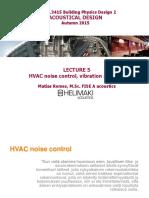 Lecture 5_HVAC Noise Control, Vibration Isolation_2015