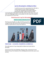 America's Cup Live Streaming