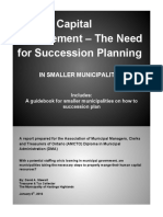 Human Capital Management - The Need for Succession Planning AMCTO HR Report_By David a Stewart