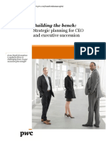 Building Bench Strategic Planning Ceos Executive Succession