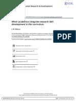 RSD Framework -- When Academics Integrate RSD -- Willison