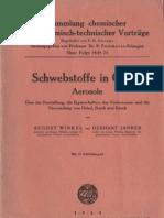 Schwebstoffe in Gasen / Aerosole - Winkler / Jander